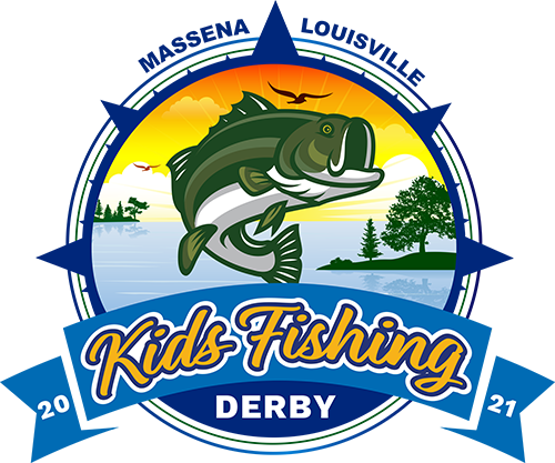Massena Louisville Kids FIshing Derby Logo 2021